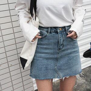 weiweishop Women's fashion summer new Korean version of the high waist bag hip A word skirt wild fashion ins female short skirt bottoms S