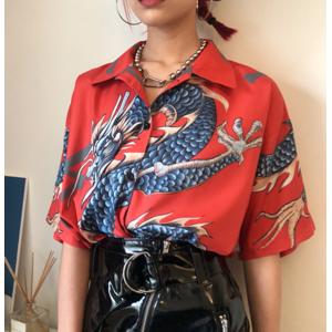 Sheloveit Girls Dragon Pattern T-shirt