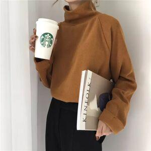 shopyukii Plain Turtleneck Sweater White