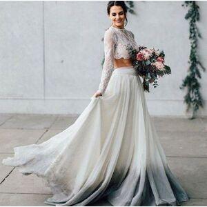 dressydances Two Piece Gradient Wedding Dresses Bridal Gown US14