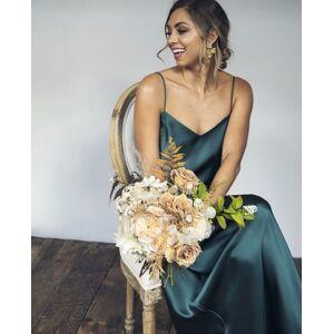 dressydances Spagehtti Straps Silk Long Bridesmaid Dresses for Wedding US14W