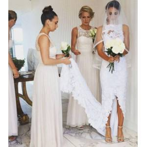 dressydances Elegant Chiffon Bridesmaid Dresses with Lace US14
