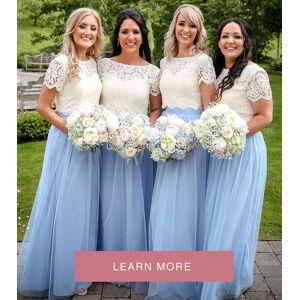 dressydances Two Piece Long Bridesmaid Dresses for Wedding Party US14W