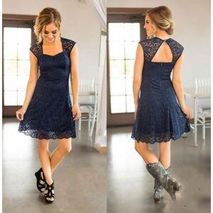 dressydances Country Short Lace Navy Blue Bridesmaid Dresses US14W