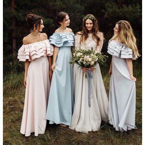 dressydances Elegant Bateau Long Bridesmaid Dresses Under 100 US14