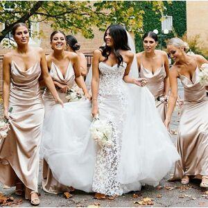 dressydances Spaghetti Straps Long Bridesmaid Dresses for Wedding Party US14