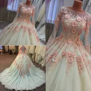 dressydances Ball Gown Quinceanera Dresses Prom Dress Birthday with 3D Flowers US14