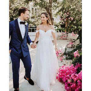Dressmeet Fairy Ball Gown Sweetheart White Organza & Tulle Wedding Dresses US 14