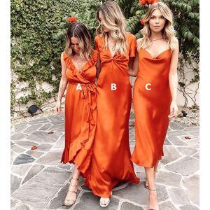 dressydances Mismatch Orange Bridesmaid Dresses for Wedding Party MJ7 US6
