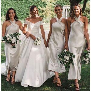 dressydances Halter Bridesmaid Dresses Ankle Length US14W