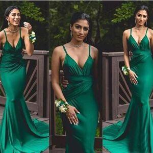 dressydances Spagehtti Straps Green Prom Dresses US14W