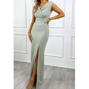 dressydances V Neck Long Prom Dresses with Split US14