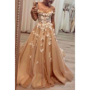 dressydances Off the Shoulder Prom Dresses with Appliques Lace US14
