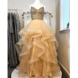 dressydances Spaghetti Straps Floor Length Prom Dresses US14W