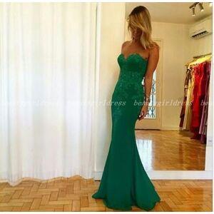 beautygirldress long prom dress,sweetheart mermaid prom dress,green evening dress US14