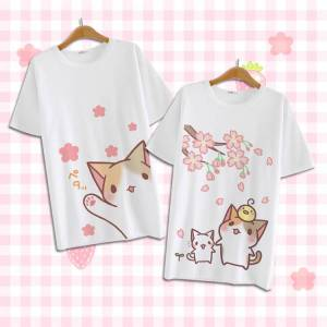 storecosply Cute kawaii cartoon cat T-shirt A-1. s