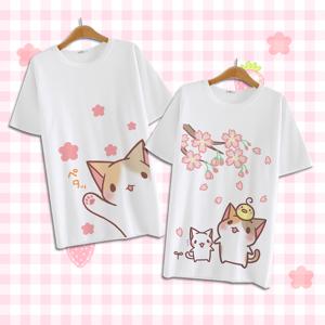 storecosply Cute kawaii cartoon cat T-shirt E-1. m