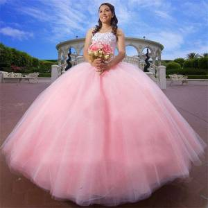dressydances Ball Gown Pink Pageant Dresses Birthday Dress Pirncess Gown US14W