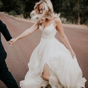 dressydances Beach Wedding Dresses Bridal Gown with Slit Side US14