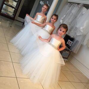 Vickidress Lovely dresses for girls Beaded Straps kids evening gown flower girl dresses for weddings Child 6