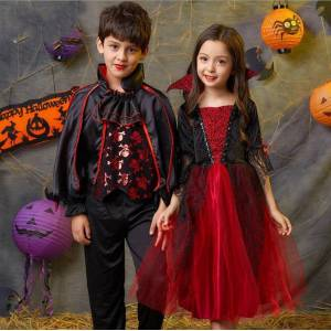 THU HUYEN SHOP Halloween Costume Carnival Party Halloween Adult Kids Count Dracula Gothic Vampire Costume Fantasia Prince Vampire Cosplay