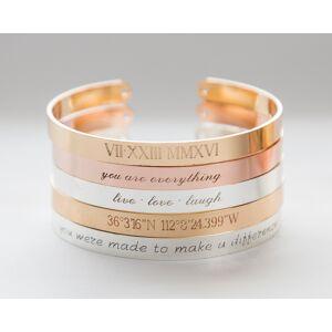 byVellamo Roman Numerals Cuff Bracelet, Custom Bracelet, Anniversary Gift, Personalized Date Bracelet, Wife Girlfriend Gift, Custom Date Jewelry Silver plated