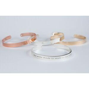 byVellamo Teacher Gift Bracelet, You Were Made To Make A Difference Bracelet, Inspirational Teacher Gold plated