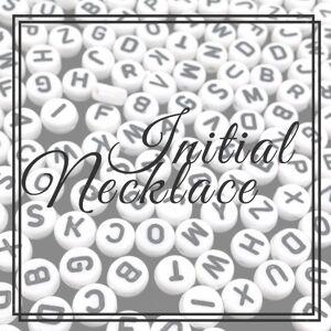 Klassy Couture Initial Bead Necklace Q