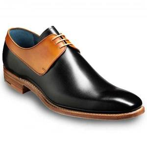 Rangoli Collection Men Fashion Black and Tan two tone derby shoes, Men formal leather shoes US 11