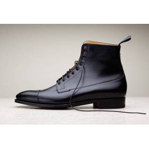 Rangoli Collection Handmade men black leather boots, dress boots for men, men ankle high boots  US 11.5