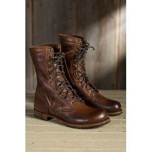 Rangoli Collection Handmade Men brown Military boots, Men brown high ankle combat boots, Men boots US 11