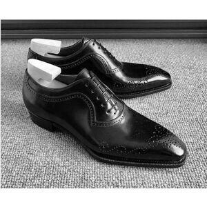 Rangoli Collection Handmade Men black Oxford shoes, Men brogue formal shoes, Men tuxedo shoes US 11.5
