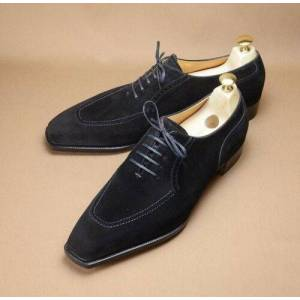 Rangoli Collection Shoe Maker Men Black Suede Shoes Men Suede Formal Shoes Men Dress Shoes US 11