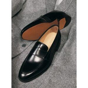 Rangoli Collection Handmade Men Leather Dress Shoes, Men black Leather formal Shoes, Mens shoes US 11