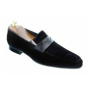 Rangoli Collection Handmade Men Suede Shoes, Men Casual Shoes, Men black suede moccasins  US 11