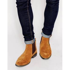 Rangoli Collection Handmade Men Rock style Tan suede Chelsea boots, Men suede ankle boots, Men casual boots US 13