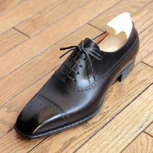 Rangoli Collection Handmade Mens Black Leather Dress Shoes Mens brogue Leather Shoes, Shoes for men US 11.5