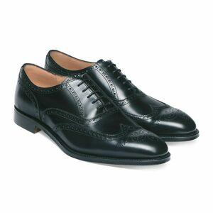 Rangoli Collection Handmade Mens wingtip brogue Dress shoes, Men black leather office shoes US 11