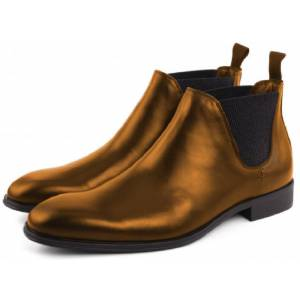 Robleatherseller Comfortbale Boots Made To Hand Golden Color Premium Leather Men Chelsea Boots US 11