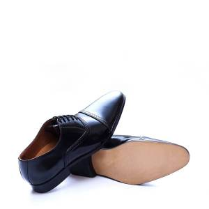 Robleatherseller Pairs For Office Black Color Pointed Cap Toe Premium Leather Men Oxford Shoes US 11.5