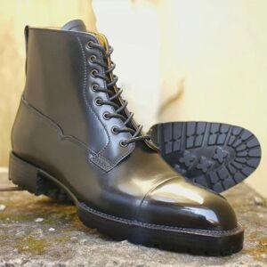LeathersPlanet New handmade Black Vanquish Blucher Boots for men US-Size: 11