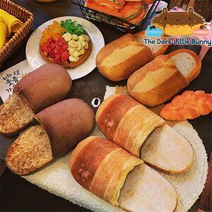 The Dark Little BunnY's store Bread slippers 3. Brown Sugar Bread - M