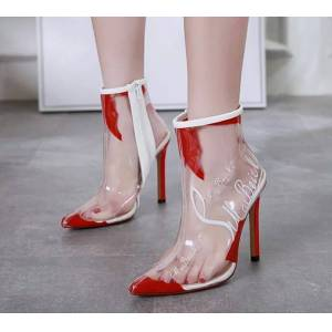 Magical Place New sexy transparent ankle boots