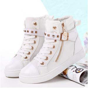 Sheloveit Korean Students Zipper Canvas Shoes Blue-EU37=235MM