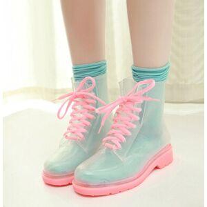 longlong Fashion kawaii candy color rain boots White-35