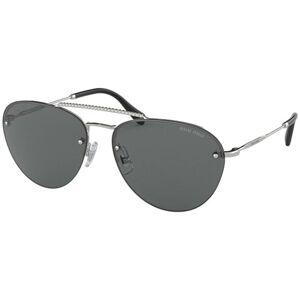 Miu Miu MU54US 1BC1A1 Women's Sunglasses Silver Size 59