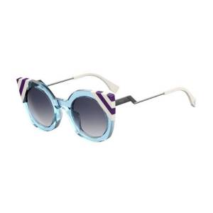 Fendi FF 0240/S MVU/08 Women's Sunglasses Blue Size 47
