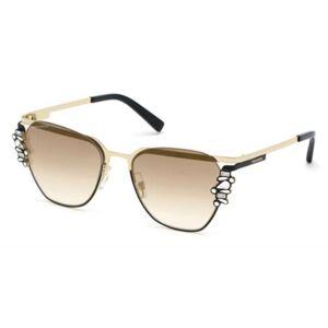 Dsquared2 DQ0300 32G Women's Sunglasses Gold Size 55