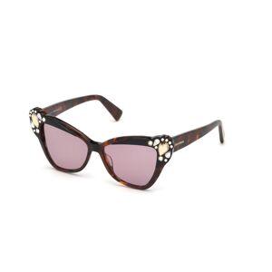 Dsquared2 DQ0327 56Y Women's Sunglasses Tortoise Size 53