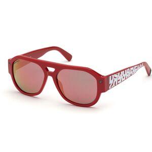 Dsquared2 DQ0358 66U Men's Sunglasses Red Size 56